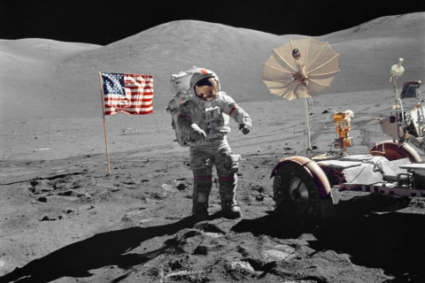 Apollo 17 Photos Spotlight Man's Last Trip to the Moon