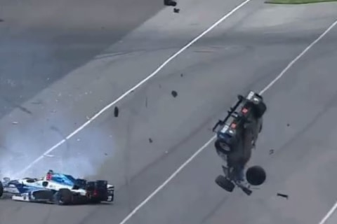 IndyCar Driver Is OK After Unbelievable Crash at Indy 500
