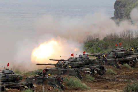 Taiwan Tests U.S. Firepower, Fears Invasion by China