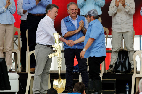 Colombia's FARC Turn in Weapons, Ending Role in Half-Century War