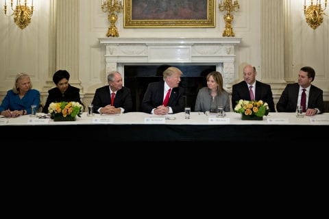 Trump Dissolves Business Advisory Councils as CEOs Quit