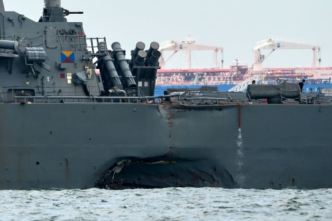 USS John S. McCain: Remains Found of Some U.S. Sailors Missing in Warship Crash
