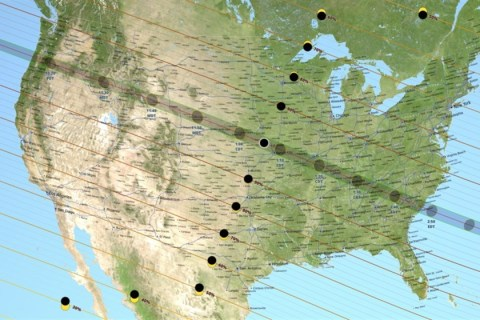 In the Path of the Total Eclipse? Here's Where and When to See It