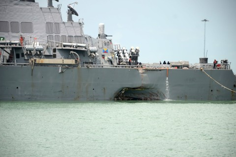 Navy Orders 'Operational Pause' After USS John S. McCain Collides With Tanker