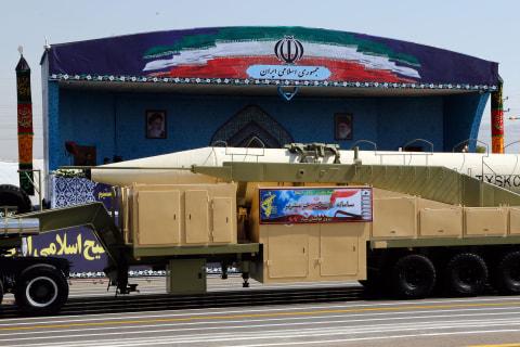 Iran Shows Off Khorramshahr Ballistic Missile After Trump Speech