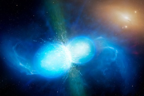 LIGO Scientists Spy Neutron Star Smash-Up That Blew Bling Into Space