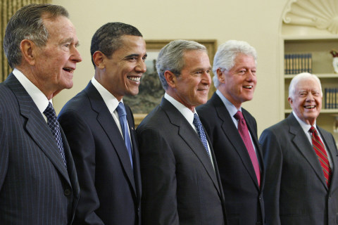 Watch: Five Former U.S. Presidents Appear at Hurricane Relief Concert