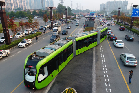 New Type of Electric Transport Being Tested in China