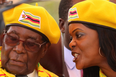Robert Mugabe makes post-coup appearance but where is his wife, 'Gucci Grace'?