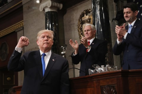 Trump talks unity, sows division in State of the Union
