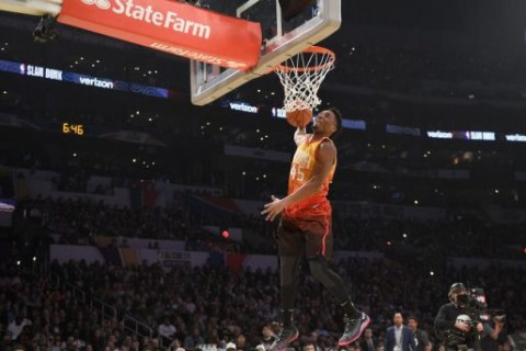 NBA's Mitchell, Nance Jr. shine in throwback Slam Dunk Contest