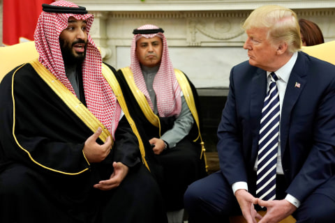 Trump meets with Saudi leader amid fears of a new Middle East arms race