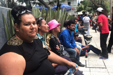 Days from reaching the U.S. border, migrants in caravan tell their stories