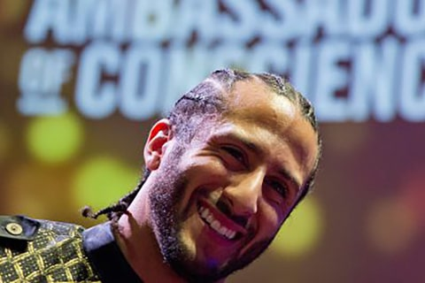 Colin Kaepernick awarded Amnesty International's top honor