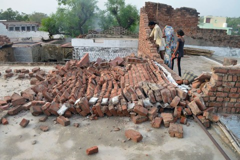At least 91 dead after powerful rainstorm hits parts of north and western India