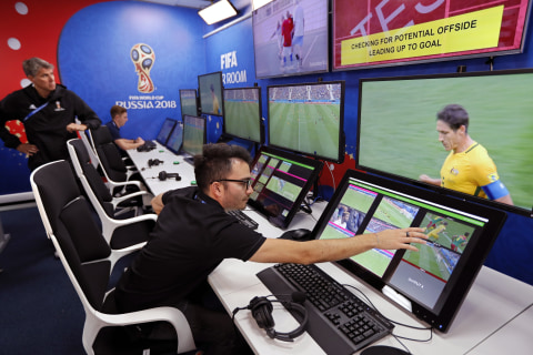 Video-assisted referees help make tough calls at the World Cup