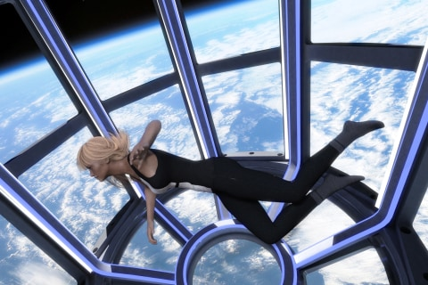 French designer creates womblike habitat for space tourists