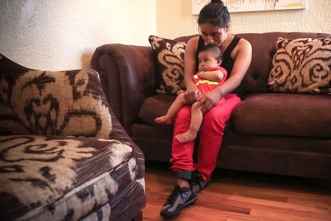The 'lucky ones': Maria and her son crossed the border at the perfect moment