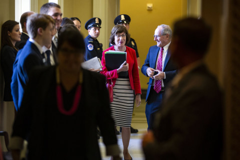 Closely watched GOP moderate Sen. Susan Collins speaks favorably of Kavanaugh