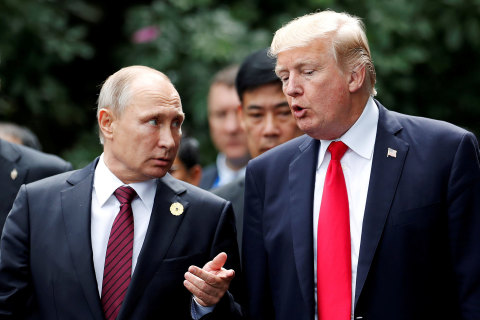 Trump attacks Mueller probe at joint press conference with Putin