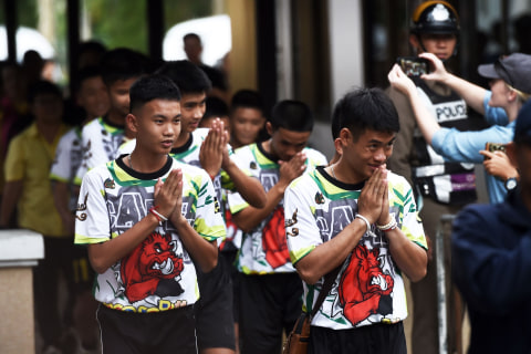 Thai boy reveals he thought cave rescuer was 'hallucination'