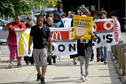 McDonald's workers go on strike over sexual harassment