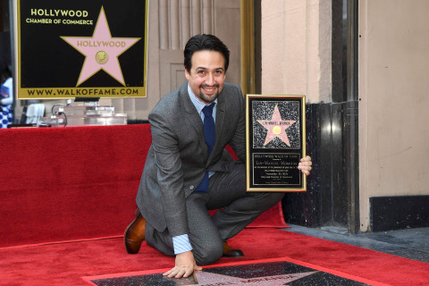 'I feel like I'm in a dream': Lin-Manuel Miranda gets Hollywood Walk of Fame star