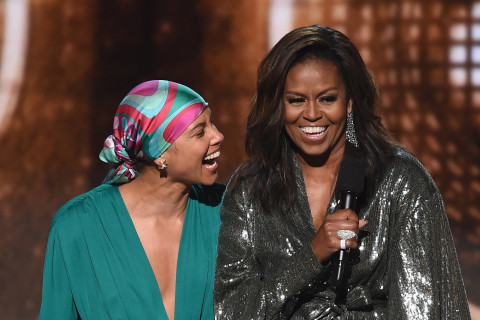 Michelle Obama rocks the house at the Grammy Awards