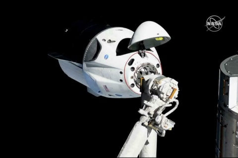 SpaceX's Crew Dragon capsule successfully docks with International Space Station