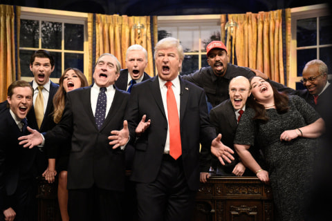 'Saturday Night Live' season closer mocks Trump with Queen song 'Don't Stop Me Now'
