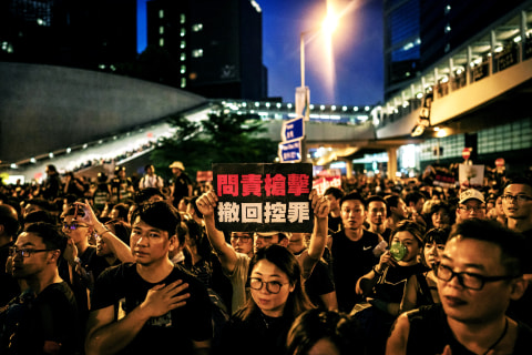 Huge protest in Hong Kong demands end to extradition bill, leader's resignation