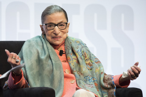 Justice Ginsburg reports she's on the way to being 'very well' after cancer treatment