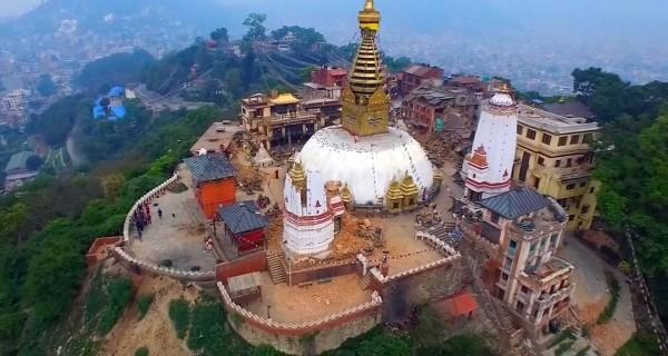 Drone Films Bird's-Eye View of Nepal Quake Devastation