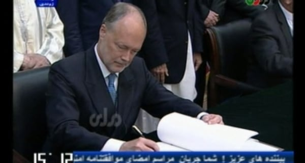 Afghanistan and U.S. Sign Security Deal in Kabul