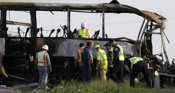 FedEx Truck Erupted Into Flames After Collision With College Tour Bus