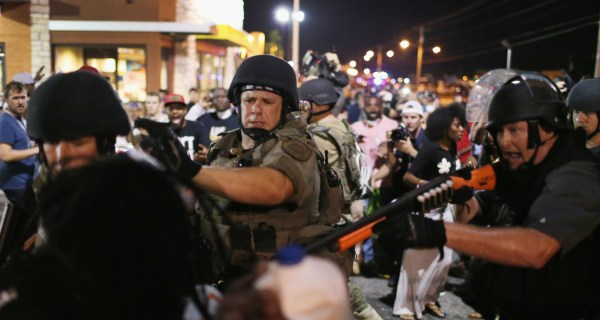 Michael Brown Protests: Flying Bottle in Ferguson Shatters Calm Night