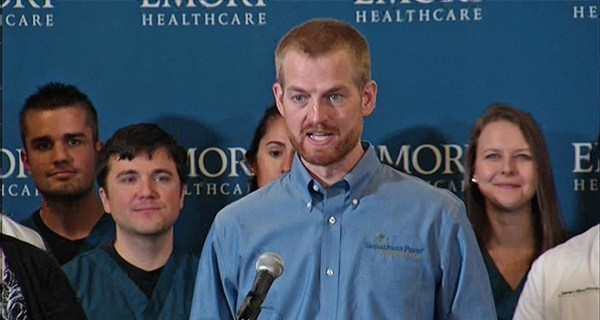 Watch Live: Docs Declare Ebola Patients Kent Brantly and Nancy Writebol No Risk to Public