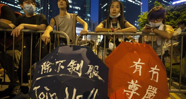 Hong Kong's 'Umbrella Revolution' Protesters Refuse to Back Down