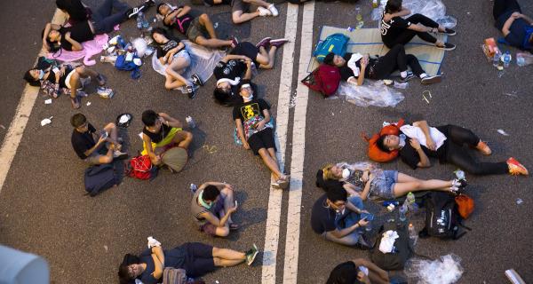 Hong Kong's 'Umbrella Revolution' Protesters Refuse to Back Down