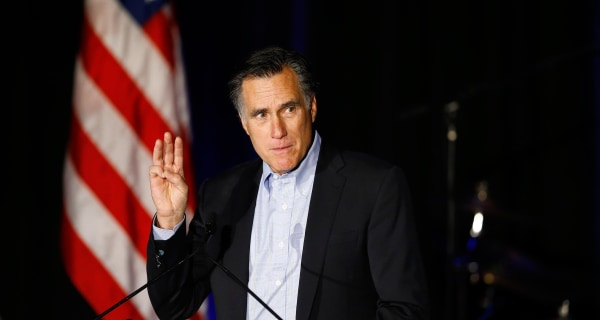 He's Out: Mitt Romney Says He Won't Run for President