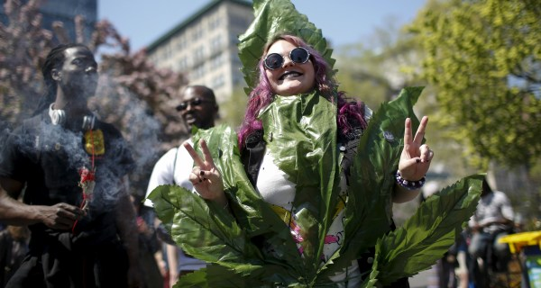 Protesters in NYC Call for Legal Marijuana in New York