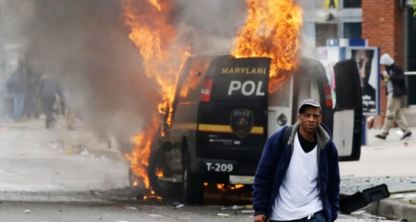 State of Emergency Declared as Baltimore Protests Turn Violent Following Freddie Gray Funeral