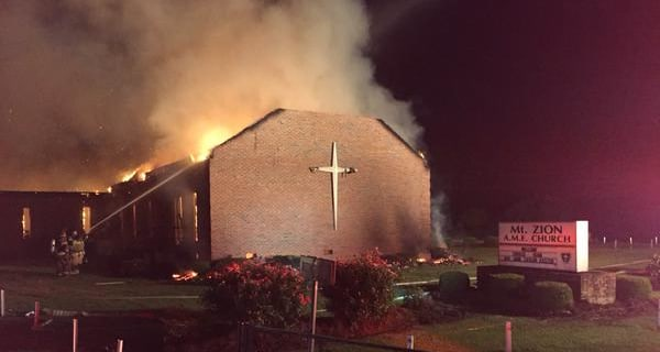 Historic Black Church, Once Burned by KKK, on Fire Again