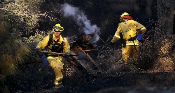 California Firefighters Make Progress in Napa County Wildfire