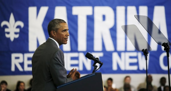 Obama to New Orleans 10 Years After Katrina: 'You Inspire Me'