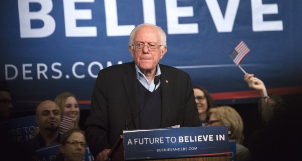 Bernie Sanders Suddenly Looking and Sounding Like a Front-Runner