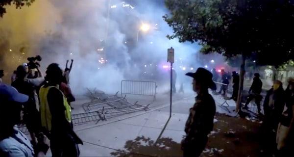 Albuquerque Cops Use Smoke, Horses After Anti-Trump Protests Turn Violent
