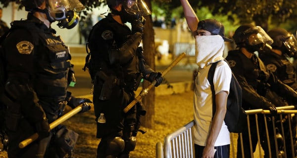 Albuquerque Cops Injured as Anti-Trump Protests Turn Violent