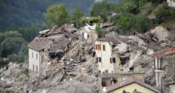 Scenes From Italy's Earthquake: The Ancient Town of Amatrice Turned to Rubble