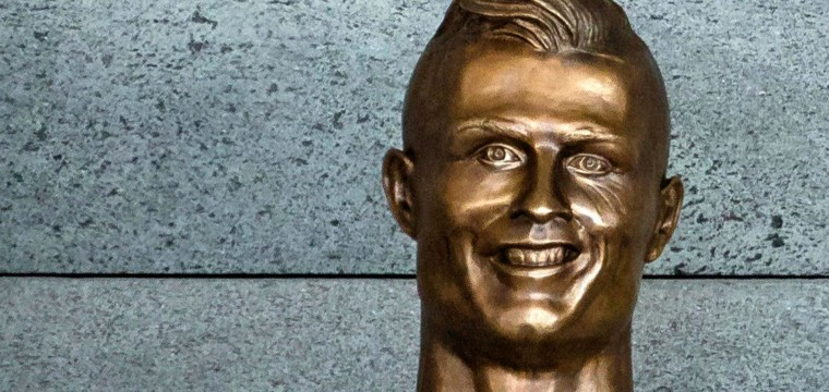 Soccer Star Ronaldo's Odd Statue Turns Heads